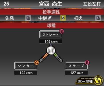 プロスピA 2019S1:西宮尚生選手データ