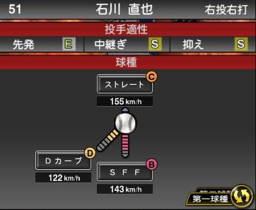 プロスピA 2019S1:石川直也選手データ