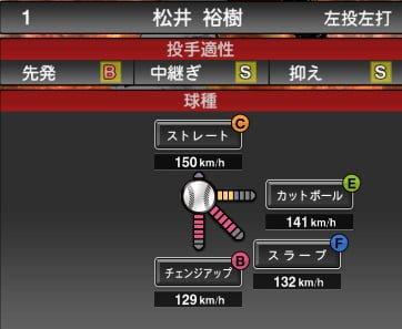 プロスピA 2019S1:松井裕樹選手データ