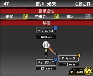 プロスピA 2019S1:吉川光夫選手データ