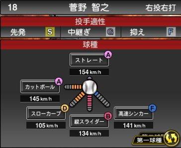 プロスピA 2019S1:菅野智之選手データ