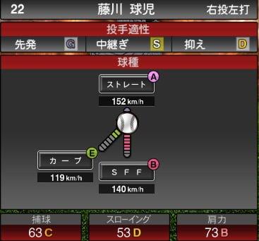 プロスピA 2019S1:藤川球児選手データ