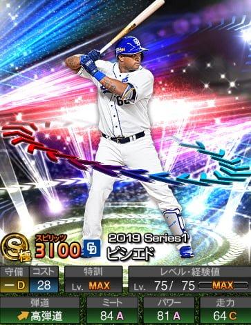 プロスピA 2019S1:EX1:ビシエド選手データ