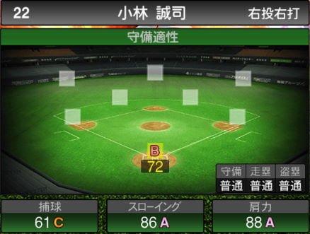 【プロスピA】 2019Series2:捕手:小林誠司選手のステータス