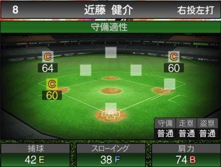 【プロスピA】10/4更新三塁手が追加!2019Series2:近藤健介選手のステータス