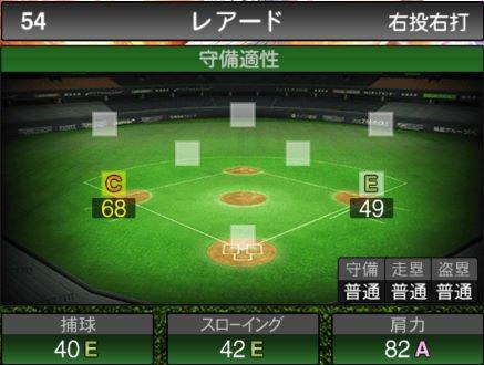 【プロスピA】10/4更新三塁手が追加!2019Series2:レアード選手のステータス