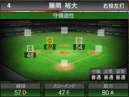【プロスピA】10/10更新遊撃手が追加!2019Series2:藤岡裕大選手のステータス