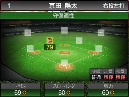 【プロスピA】10/10更新遊撃手が追加!2019Series2:京田陽太選手のステータス