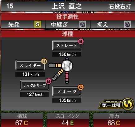 【プロスピA】10/15アニバーサリー選手第1弾が登場!2019Series2:上沢直之選手のステータス&評価