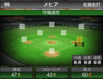【プロスピA】11/1様々なポジションの野手が追加!2019Series2:メヒア選手のステータス&評価