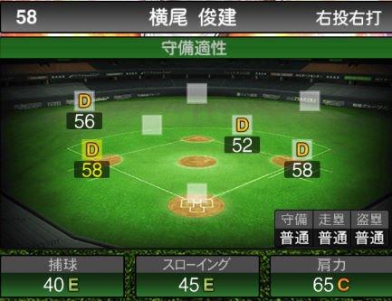 【プロスピA】11/1様々なポジションの野手が追加!2019Series2:横尾俊建選手のステータス&評価