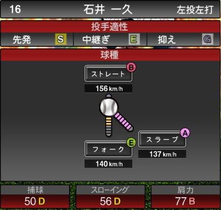 【プロスピA】OB第1弾が遂に登場!2019Series2:石井一久選手のステータス&評価