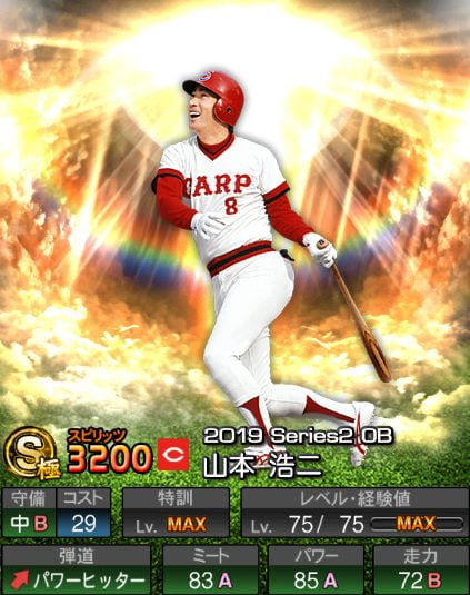 【プロスピA】2019Series2:山本浩二選手のステータス&評価