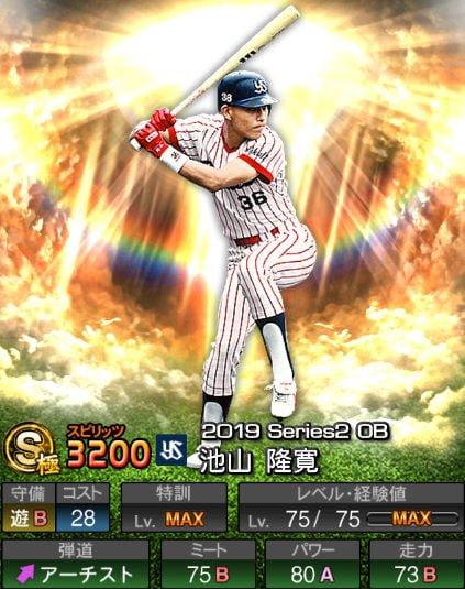 【プロスピA】2019Series2:池山隆寛選手のステータス&評価