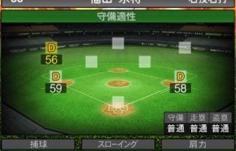 【プロスピA】2020Series1:福田永将選手のステータス&評価