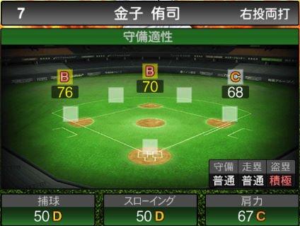 【プロスピA】2020Series1:金子侑司選手のステータス&評価