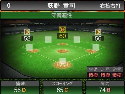 【プロスピA】2020Series1:荻野貴司選手のステータス&評価